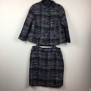 Talbots Woman Tweed Jacket and Skirt Suit Size 14W